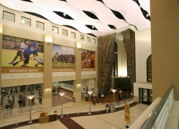 Texas State University Atrium at the Student Recreation Center